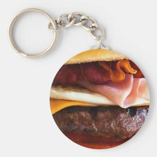 Funny big burger keychain