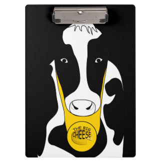 Funny Big Cheese Boss Cow Clipboard