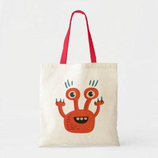 Funny Big Eyed Orange Happy Monster