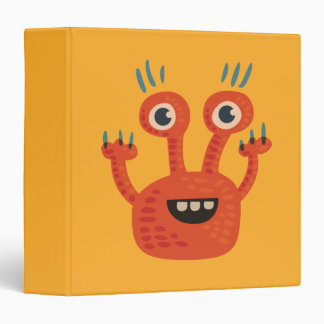 Funny Big Eyed Smiling Cute Monster Binder