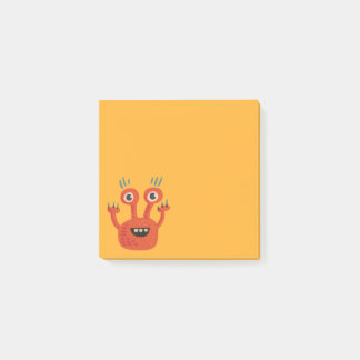 Funny Big Eyed Smiling Cute Monster Post-it Notes