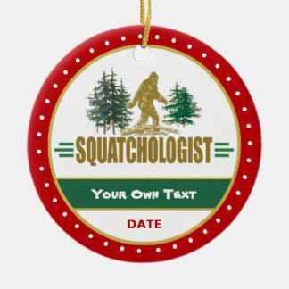 Funny Big Foot Sasquatch Ceramic Ornament