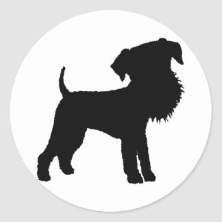 Funny Big Head Airedale Terrier Classic Round Sticker