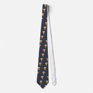 Funny Big Headed Giraffe Drinking Margarita Art Tie