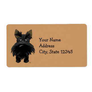 Funny Big Nose Scottie Shipping Label