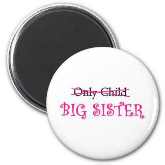 Funny Big Sister in Pink 2 Inch Round Magnet