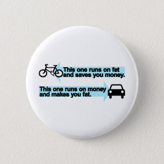 Funny Bike versus Car 2 Inch Round Button