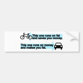 Funny Bike versus Car Bumper Sticker