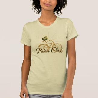 Funny Biker Chick Vintage T-Shirt