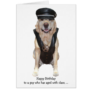 Funny Biker Lab Card