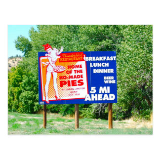 Funny Billboards Ho Made Pies Postcard