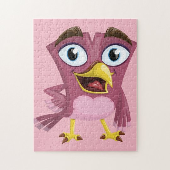 Funny Bird 11x14 Photo Puzzle with Gift Box