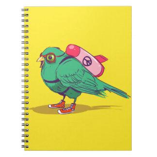 Funny bird notebook