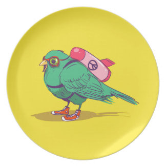 Funny bird plate