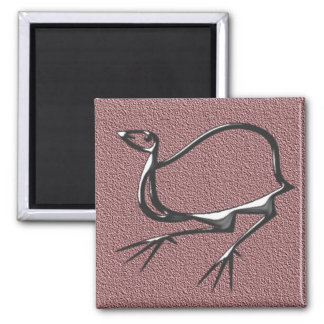 Funny bird purple magnet