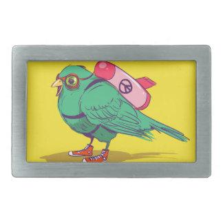 Funny bird rectangular belt buckle