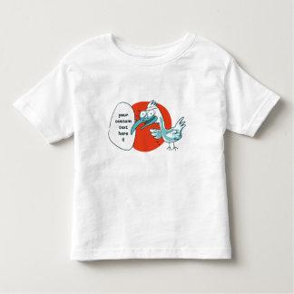 funny bird says something cartoon toddler t-shirt
