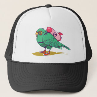 Funny bird trucker hat