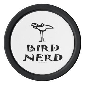 Funny Bird Watching Poker Chips Set