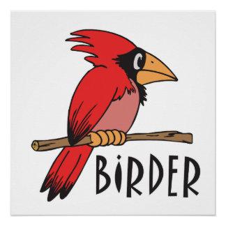 Funny Birding Birdwatcher Birder Perfect Poster