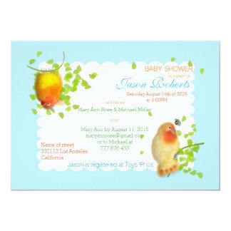 "Funny birds Custom Baby Shower Invitation. 5"" X 7"" Invitation Card"