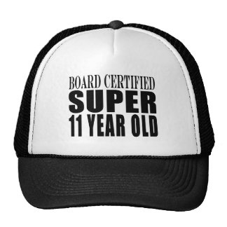 Funny Birthday B. Certified Super Eleven Year Old Hats