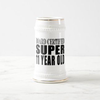 Funny Birthday B. Certified Super Eleven Year Old Coffee Mugs