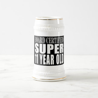 Funny Birthday B. Certified Super Eleven Year Old Mugs