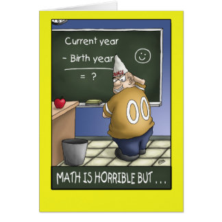 Funny Birthday Card: Birthday Math 2 Card