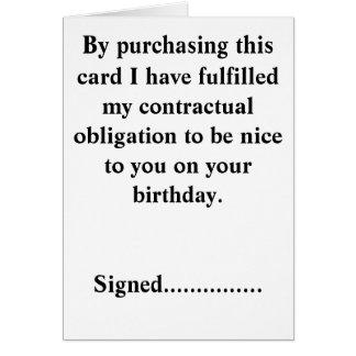Funny Birthday Card. Card