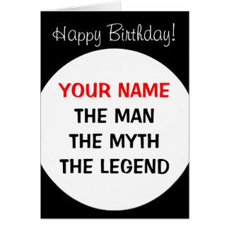Funny Birthday card for men | The man myth legend