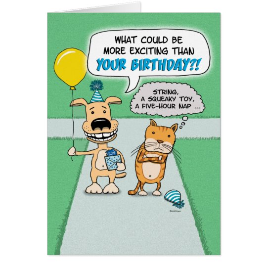 Funny birthday card happy dog and grumpy cat card zazzle funny birthday card happy dog and grumpy cat card bookmarktalkfo Gallery