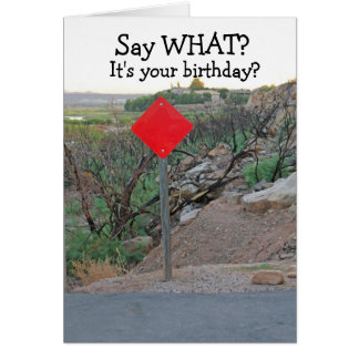Funny Birthday Card-Men's Birthday Card