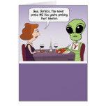 Funny Birthday Card: Probing Alien