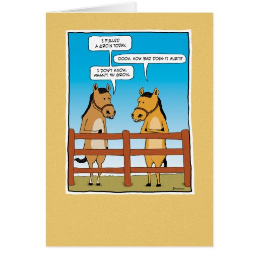 Funny birthday card: Pulled Groin