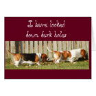 Funny Birthday Card w/Searching Basset Hound