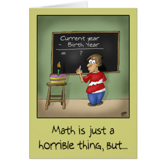 Funny Birthday Cards: Birthday Math Card