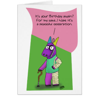 Funny Birthday Cards: Pinata Abuse Card