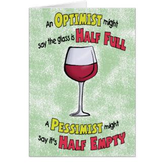 Funny Birthday Cards: Wine Philosophy Card