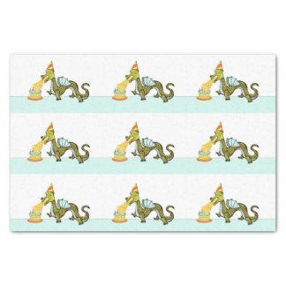 funny birthday dragon tissue paper