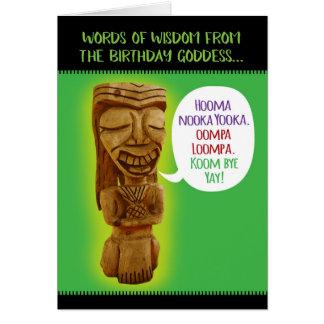 Funny Birthday Goddess Words of Wisdom Card