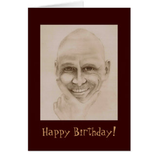 Funny Birthday Guy Note Card
