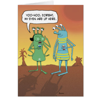Funny Birthday: Jerky Alien Guy Card