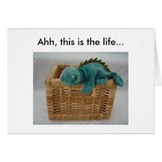 Funny Birthday Lizard Card