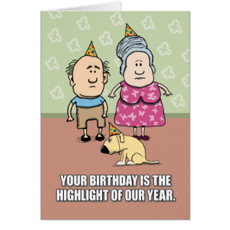 Funny Birthday: Not Really Party People Card