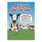 Funny Birthday: Party Til the Cows Come Home Card