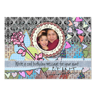 "Funny birthday template photo card - Aunt 5"" X 7"" Invitation Card"