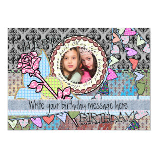 "Funny birthday template photo card -friends or all 5"" x 7"" invitation card"