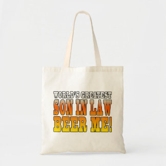 Funny Birthday Wedding Worlds Greatest Son in Law Bags