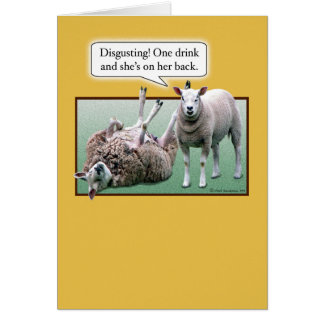 Funny Birthday: Wild and Woolly Sheep Card